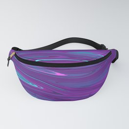 Pink, Purple, and Blue Waves 2 (rotated) Fanny Pack