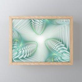 Ghost Busters - fractal - Slime - Lime - Manafold Art Framed Mini Art Print