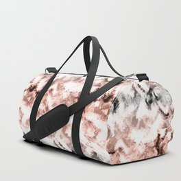 Beige gray abstract pattern Duffle Bag