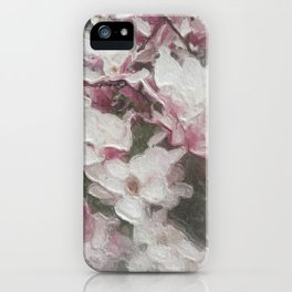 Magnolia Blooms in the Rain iPhone Case