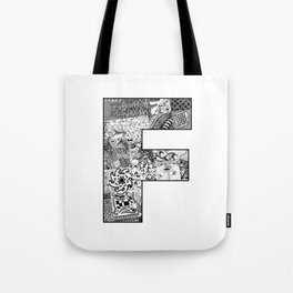 Cutout Letter F Tote Bag