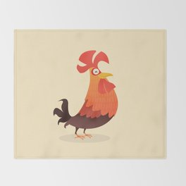 It's Time, Rooster! Throw Blanket
