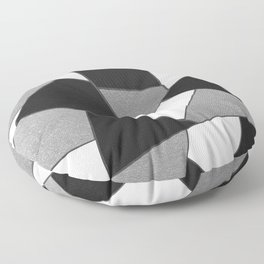 Silver Gray Black White Geometric Glam #1 #geo #decor #art #society6 Floor Pillow