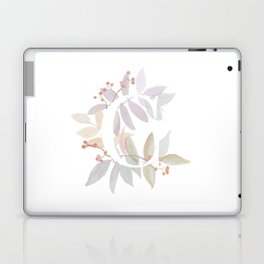 Rustic Floral Watercolor Monogram - Letter C Initial Laptop & iPad Skin