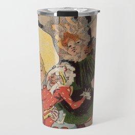 Vintage belle epoque toy store Paris vertical banner Travel Mug