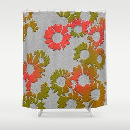Emboss Floral Shower Curtain