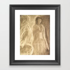The Lady in Grey Arrives Framed Art Print