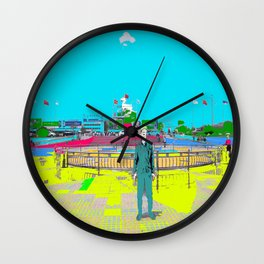 Under The Flying White Horse Wall Clock