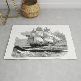 The Great Sea-Serpent When First Seen From HMS Daedalus from The Sea Its Stirring Story Of Adventure Rug