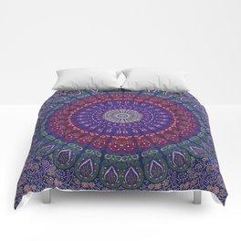 Blue Mandala Hippie Design Comforters