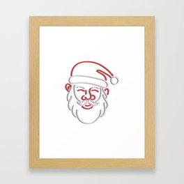 Santa Claus Neon Sign Framed Art Print