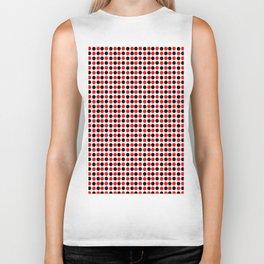 red and black polka dot- polka,polka dot,dot,pattern,circle,disc, point,abstract, minimalism Biker Tank