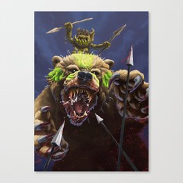 Goblin Bear Cavalry Canvas Print