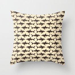 Pattern: Great White Shark ~ Vintage ~ (Copyright 2015) Throw Pillow