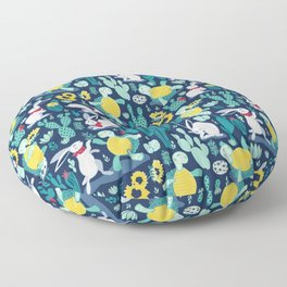 The tortoise and the hare Floor Pillow