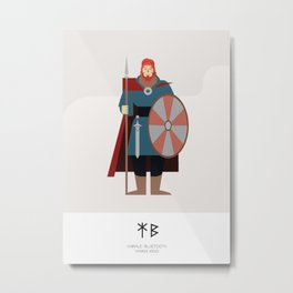 HARALD BLUETOOTH - VIKING KING AD 958 - 987 Metal Print