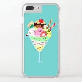 Fancy Ice Cream Celebration Clear iPhone Case