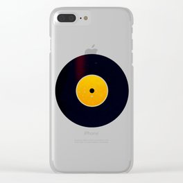 Vinyl Record Star Sign Art | Leo Clear iPhone Case