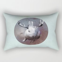 Evil Bunny Rectangular Pillow