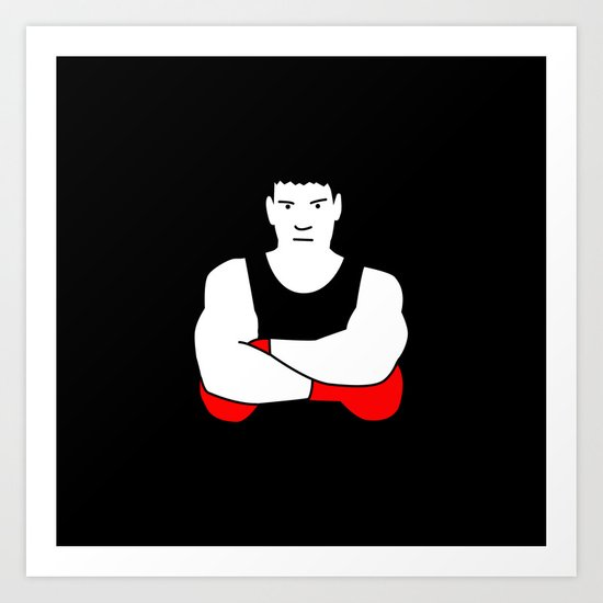 Boxing champion Art Print