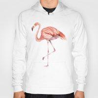 onesie Hoodies featuring Pink Flamingo by Goosi