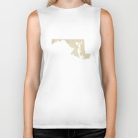 maryland Biker Tanks featuring Baltimore, Maryland Love by Fercute