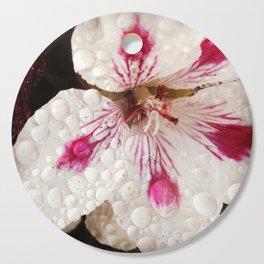 Flowers in the Summer Rain Cutting Board