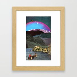 Canoes, Mountains, Planets Framed Art Print