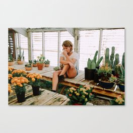 greenhouse girl Canvas Print