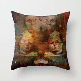 Twins intergenerational Throw Pillow