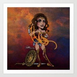 Bombshell Diana Art Print