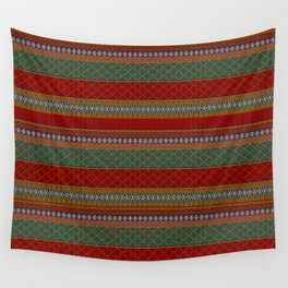 Traditional Romanian embroidery pixel Wall Tapestry
