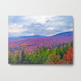 Brilliant Fall Colors at Ira Mountain in Kingfield, Maine (3) Metal Print