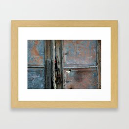Rusty metal gate Framed Art Print