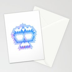 Punk Triangle Skull - Blue Stationery Cards
