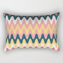 Retro Waves Rectangular Pillow