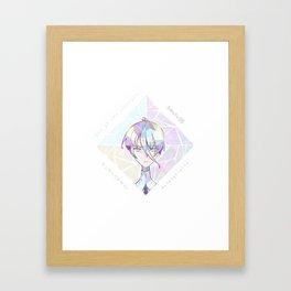 Houseki no kuni - Antharticite Framed Art Print