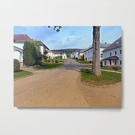 Picturesque small village center | architectural photography Metal Print