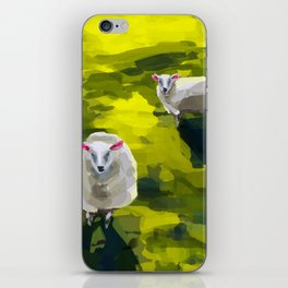 Three Sheep in Field iPhone Skin