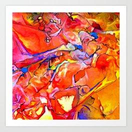 Fire Opal Impressions Art Print