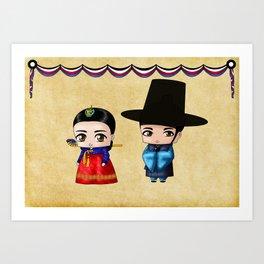 Korean Chibis Art Print
