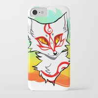 okami iPhone & iPod Cases featuring Okami shiranui by captyns