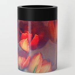 Orange Tulips Can Cooler
