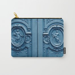 Classic Blue Door in Paris, Architecture Photography Carry-All Pouch