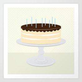 Cream Cake // Pink + Mint Art Print