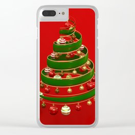 Twistmas Tree Clear iPhone Case