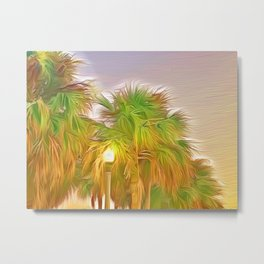 Palms Against the St. Pete Sky Metal Print