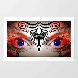 The Eyes Have It All Rights Reserved Copyright Marie Plourde Art Print