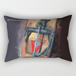 mousetrap / pop art, still life, object Rectangular Pillow
