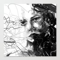 anxiety Canvas Prints featuring Anxiety by Tsukiko-Kiyomidzu